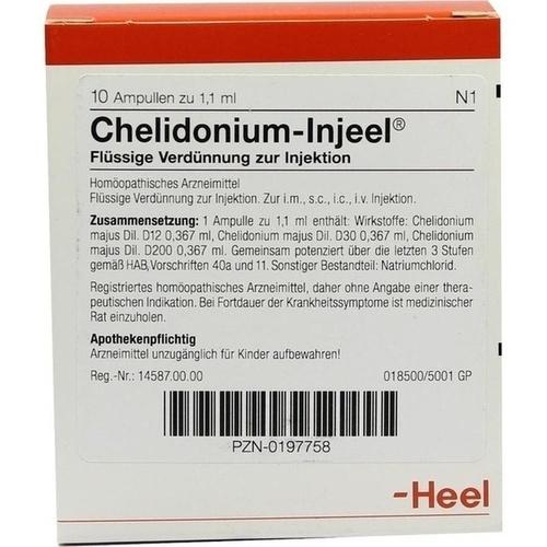 CHELIDONIUM INJ, 10 ST, Biologische Heilmittel Heel GmbH