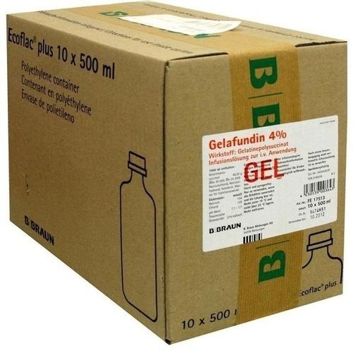 Gelafundin 4% Ecoflac plus, 10X500 ML, B. Braun Melsungen AG