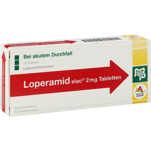 Loperamid elac 2mg Tabletten, 10 ST, Mibe GmbH Arzneimittel
