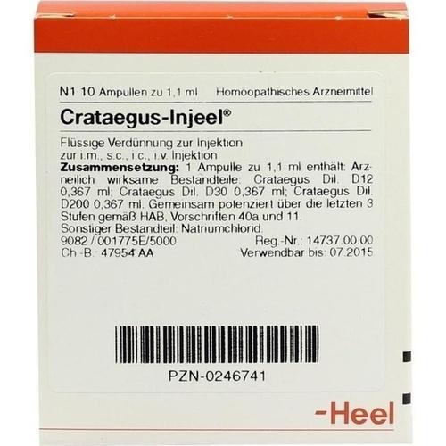 CRATAEGUS INJ, 10 ST, Biologische Heilmittel Heel GmbH