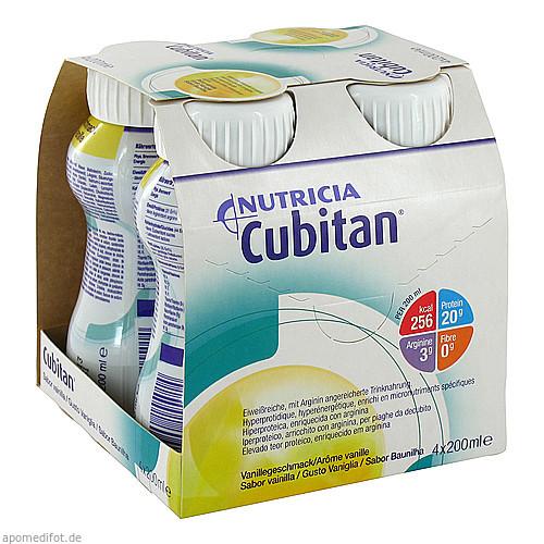 Cubitan Vanillegeschmack Trinkflasche, 4X200 ML, Nutricia GmbH