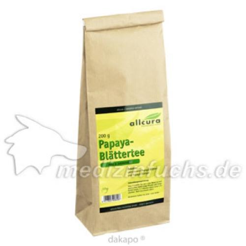 PAPAYA Blätter Tee, 200 G, allcura Naturheilmittel GmbH