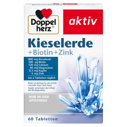 Doppelherz Kieselerde + Biotin, 60 ST, Queisser Pharma GmbH & Co. KG