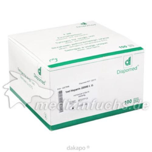 Heparin Spr 1ml MK 0.5x16, 100 ST, Dispomed Witt Ohg
