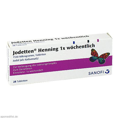 JODETTEN Henning 1x wöchentlich Tabletten, 28 ST, Sanofi-Aventis Deutschland GmbH
