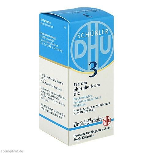 BIOCHEMIE DHU 3 FERRUM PHOSPHORICUM D 6, 80 ST, Dhu-Arzneimittel GmbH & Co. KG
