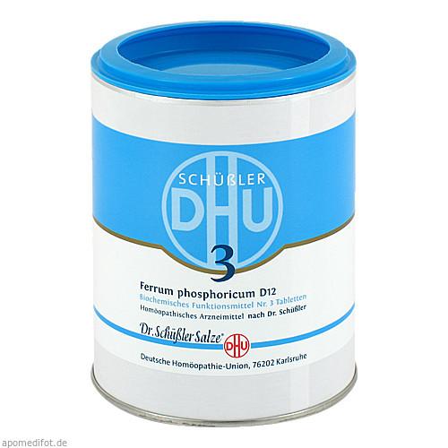 BIOCHEMIE DHU 3 FERRUM PHOSPHORICUM D12, 1000 ST, Dhu-Arzneimittel GmbH & Co. KG