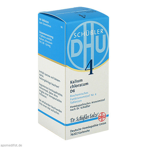 BIOCHEMIE DHU 4 KALIUM CHLORATUM D 6, 80 ST, Dhu-Arzneimittel GmbH & Co. KG