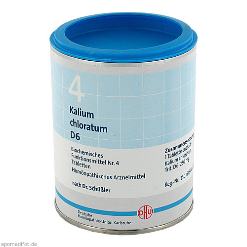 BIOCHEMIE DHU 4 KALIUM CHLORATUM D 6, 1000 ST, Dhu-Arzneimittel GmbH & Co. KG