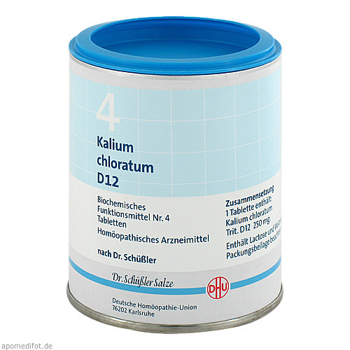 BIOCHEMIE DHU 4 KALIUM CHLORATUM D12, 1000 ST, Dhu-Arzneimittel GmbH & Co. KG