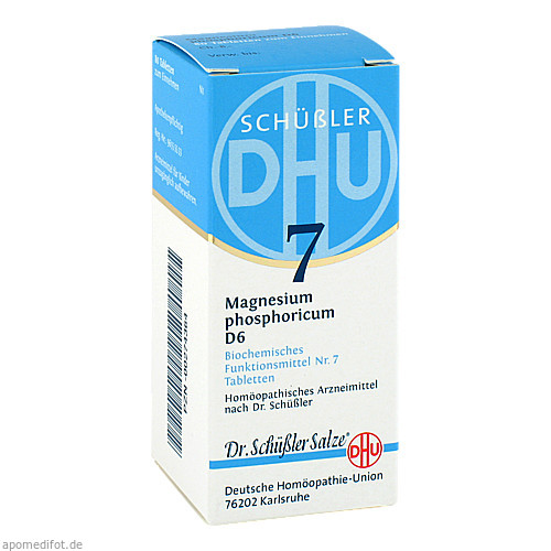 BIOCHEMIE DHU 7 MAGNESIUM PHOSPHORICUM D 6, 80 ST, Dhu-Arzneimittel GmbH & Co. KG