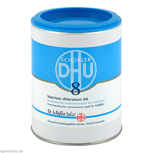 BIOCHEMIE DHU 8 NATRIUM CHLORATUM D 6, 1000 ST, Dhu-Arzneimittel GmbH & Co. KG