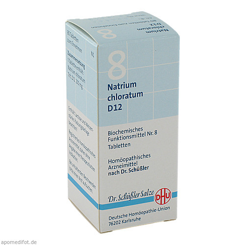 BIOCHEMIE DHU 8 NATRIUM CHLORATUM D12, 80 ST, Dhu-Arzneimittel GmbH & Co. KG