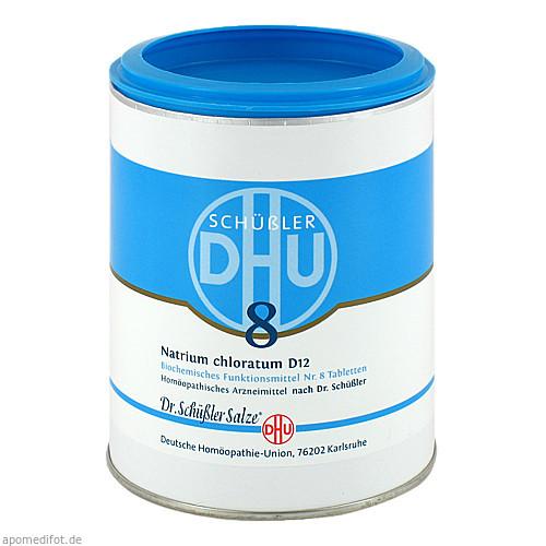 BIOCHEMIE DHU 8 NATRIUM CHLORATUM D12, 1000 ST, Dhu-Arzneimittel GmbH & Co. KG