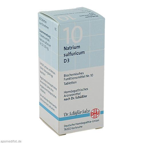 BIOCHEMIE DHU 10 NATRIUM SULFURICUM D 3, 80 ST, Dhu-Arzneimittel GmbH & Co. KG
