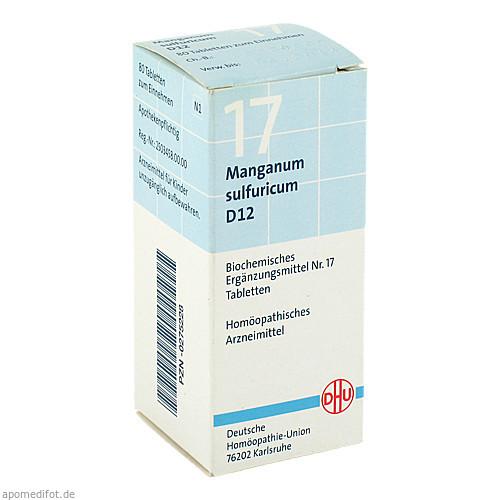 BIOCHEMIE DHU 17 MANGANUM SULFURICUM D12, 80 ST, Dhu-Arzneimittel GmbH & Co. KG