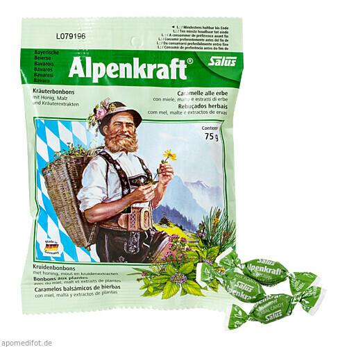 Alpenkraft Kräuterbonbons mit Honig + Malz Salus, 75 G, Salus Pharma GmbH