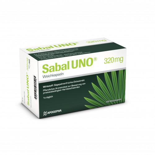 SabalUNO 320mg Weichkapseln, 120 ST, Apogepha Arzneimittel GmbH