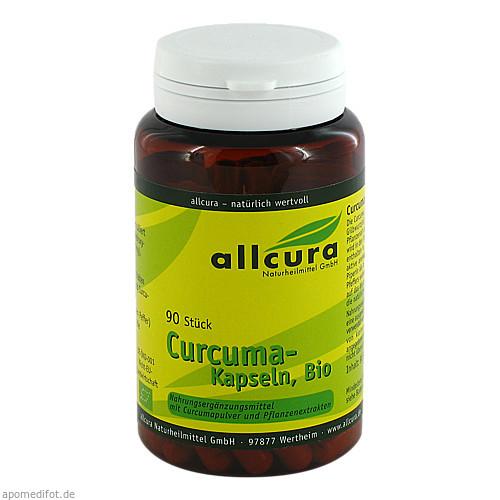 Curcuma Kapseln Bio, 90 ST, Allcura Naturheilmittel GmbH