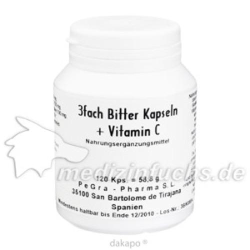 3-fach Bitter-Kapseln + Vitamin C, 120 ST, Genus Pharma Vertriebs GmbH