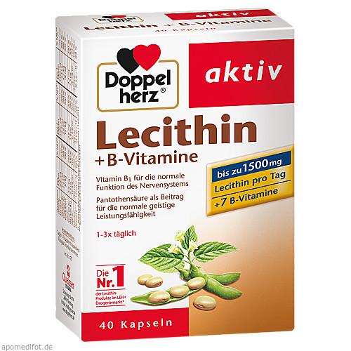 Doppelherz Lecithin + B-Vitamine, 40 ST, Queisser Pharma GmbH & Co. KG