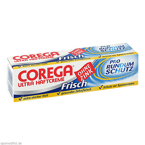 COREGA Ultra Haftcreme Frisch, 40 G, GlaxoSmithKline Consumer Healthcare GmbH & Co. KG