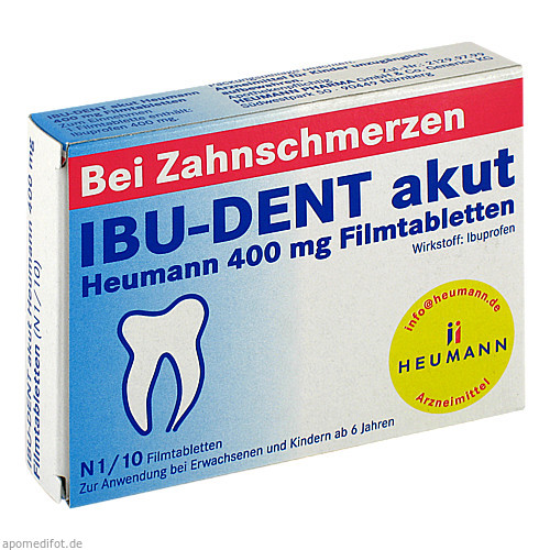 IBU-DENT akut Heumann 400 mg Filmtabletten, 10 ST, Heumann Pharma GmbH & Co. Generica KG