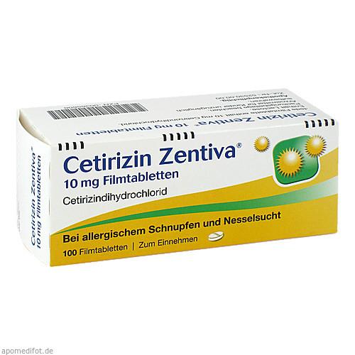 Cetirizin Zentiva 10 mg Filmtabletten, 100 ST, Zentiva Pharma GmbH