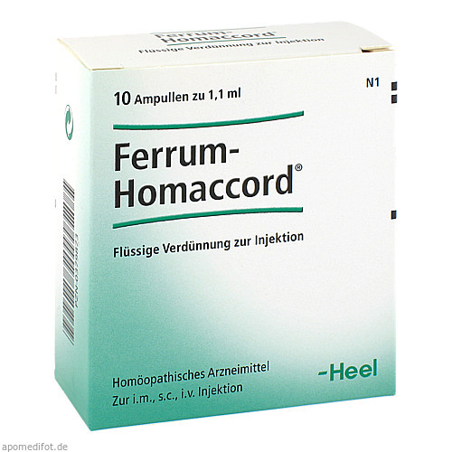 FERRUM HOMACCORD, 10 ST, Biologische Heilmittel Heel GmbH