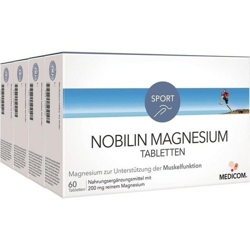 Nobilin Magnesium Tabletten, 4X60 ST, Medicom Pharma GmbH