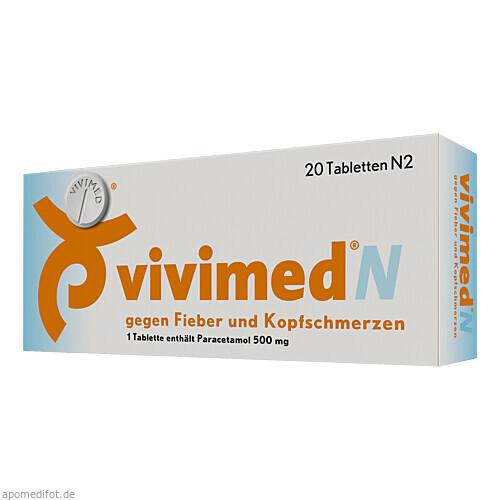 Vivimed N gegen Fieber und Kopfschmerzen, 20 ST, Dr. Gerhard Mann