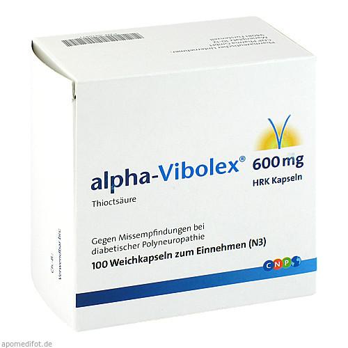alpha-Vibolex 600 HRK Kapseln, 100 ST, Cnp Pharma GmbH