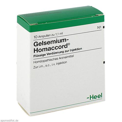 GELSEMIUM HOMACCORD, 10 ST, Biologische Heilmittel Heel GmbH