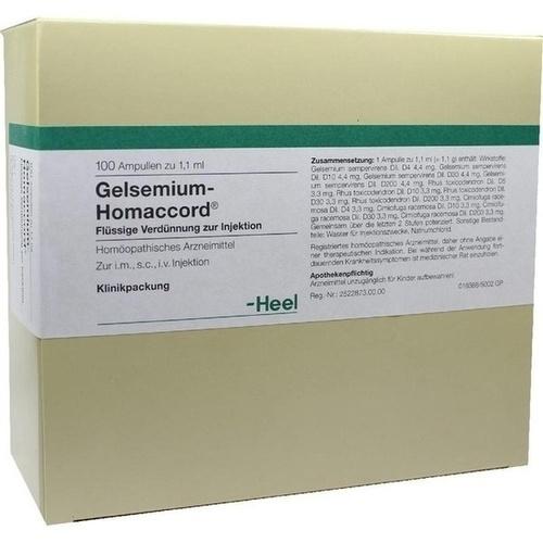 GELSEMIUM HOMACCORD, 100 ST, Biologische Heilmittel Heel GmbH
