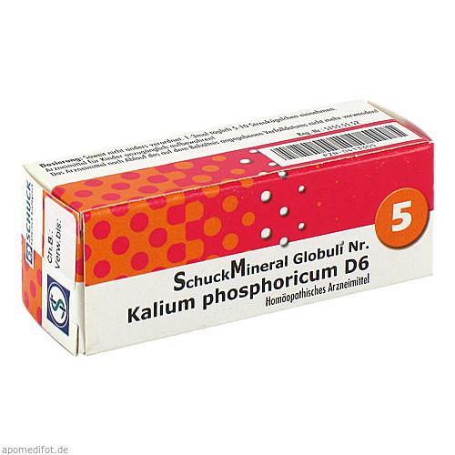 SchuckMineral Globuli 5 Kalium phosphoricum D 6, 7.5 G, Schuck GmbH Arzneimittelfabrik