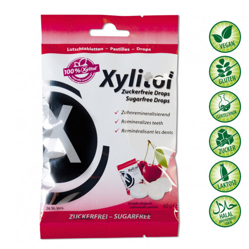 miradent Xylitol Drops Cherry, 60 G, Hager Pharma GmbH