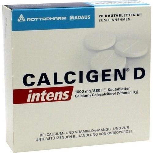 Calcigen D intens 1000 mg/880 I.E.Kautabletten, 20 ST, Meda Pharma GmbH & Co. KG