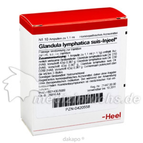 GLANDULA LYM SUIS INJ O, 10 ST, Biologische Heilmittel Heel GmbH