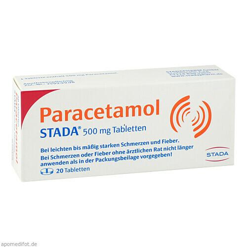 Paracetamol STADA 500mg Tabletten, 20 ST, STADAPHARM GmbH