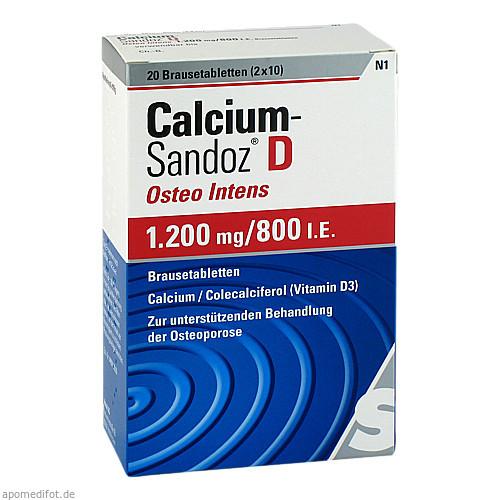 CALCIUM SANDOZ D Osteo intens 1200mg/800I.E., 20 ST, Hexal AG
