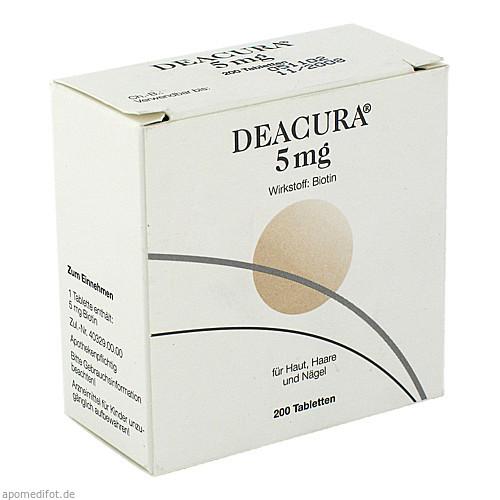 Deacura 5mg, 200 ST, Dermapharm AG