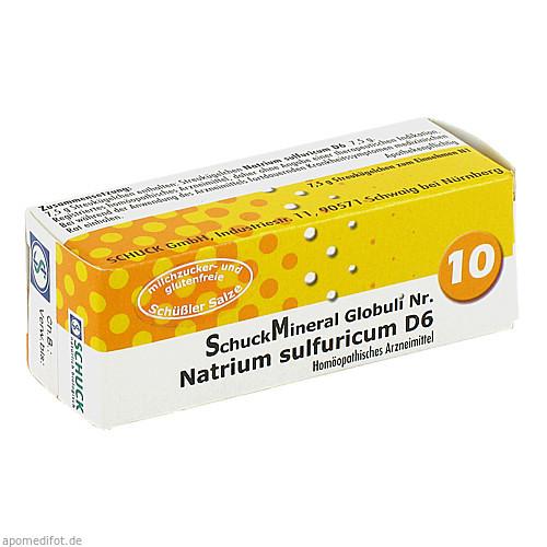 SchuckMineral Globuli 10 Natrium sulfuricum D 6, 7.5 G, Schuck GmbH Arzneimittelfabrik