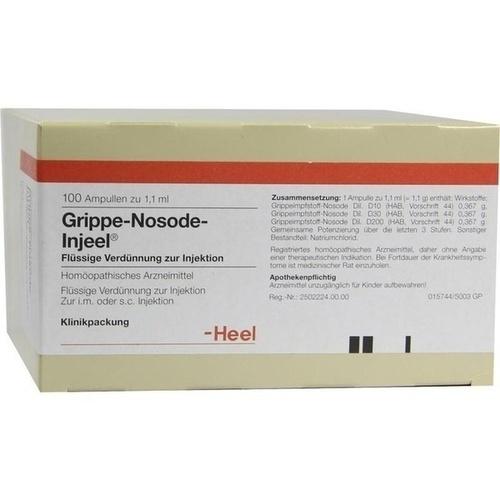 GRIPPE NOS INJ, 100 ST, Biologische Heilmittel Heel GmbH