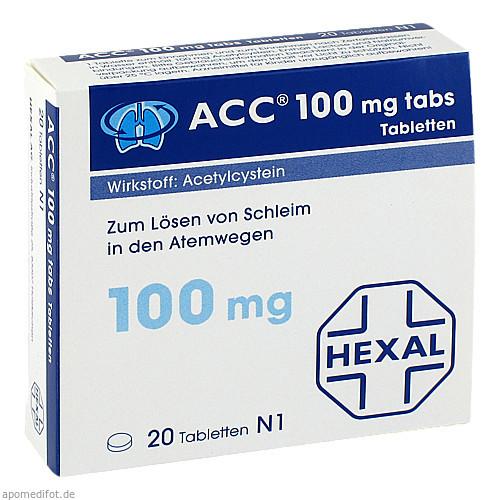 ACC 100 tabs Tabletten, 20 ST, Hexal AG