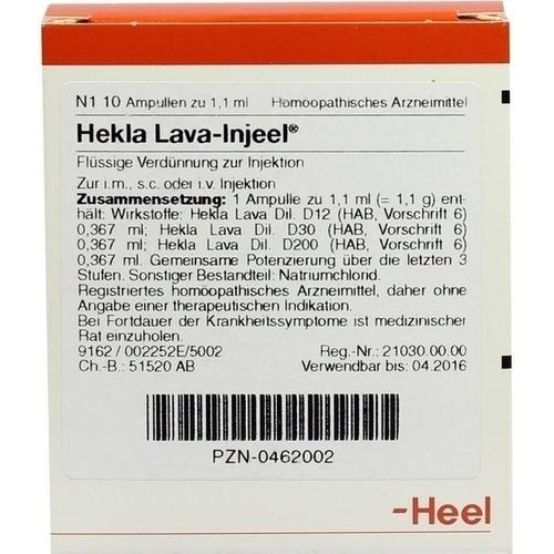 HEKLA LAVA Injeel Ampullen, 10 ST, Biologische Heilmittel Heel GmbH