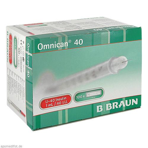 Omnican 40 1.0ml Insulin U-40 0.30x12mm einzelverp, 100X1 ST, B. Braun Melsungen AG