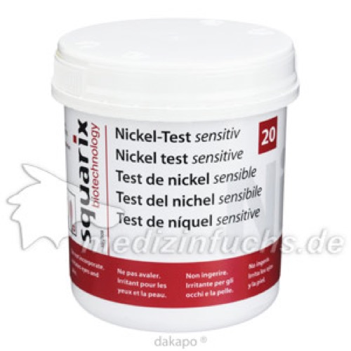 Nickel-Test sensitiv, 20 ST, Squarix GmbH