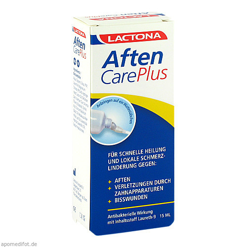 Aften Care Plus Aphthen Schmerzstiller Laureth9, 15 ML, Megadent Deflogrip Gerhard Reeg GmbH