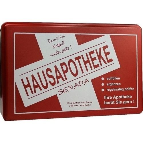 Senada Hausapotheke leer rot, 1 ST, Erena Verbandstoffe GmbH & Co. KG