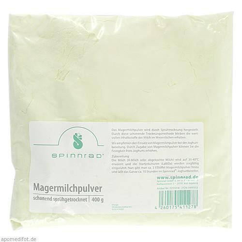 Magermilchpulver, 400 G, Spinnrad GmbH